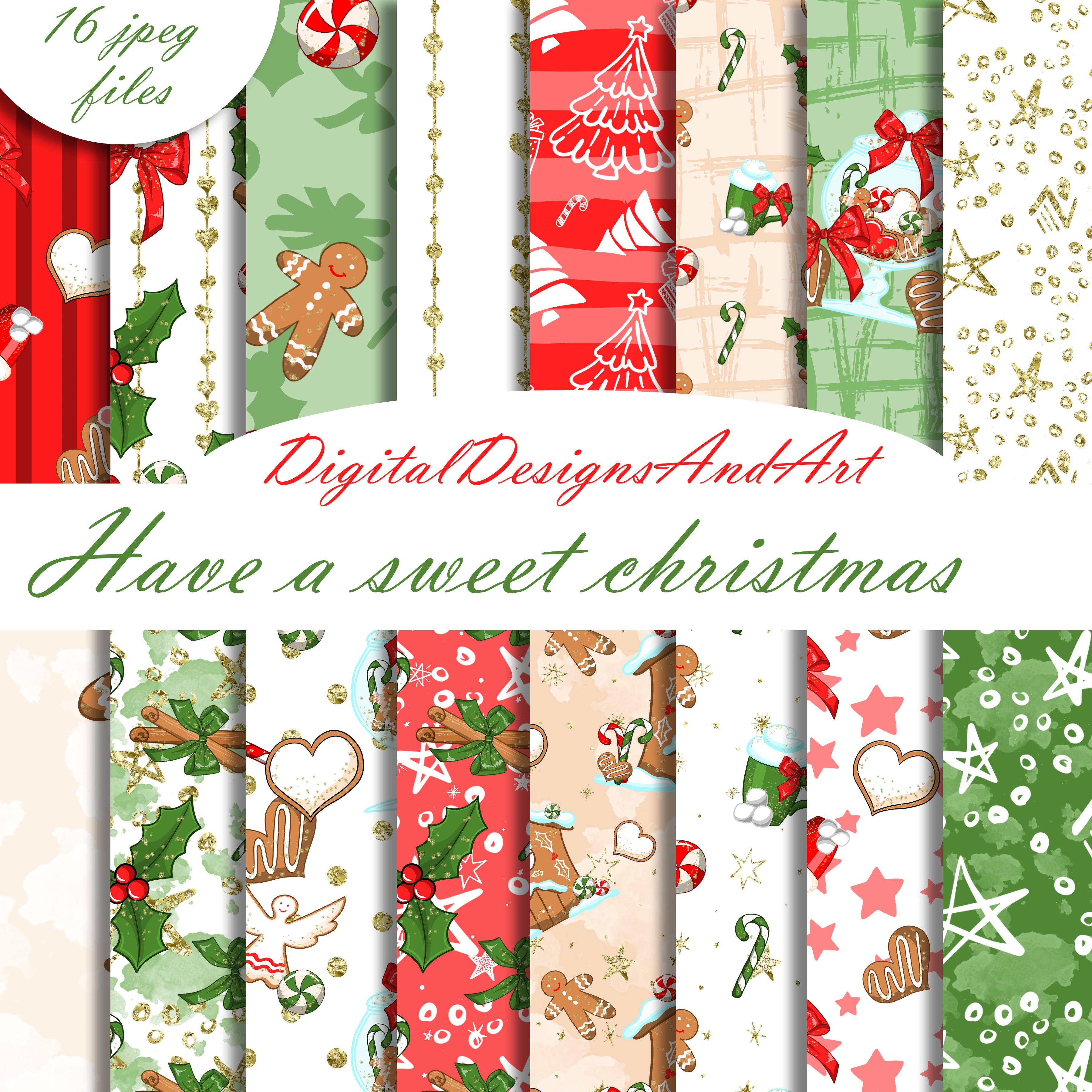 Christmas sweets patterns example image 1