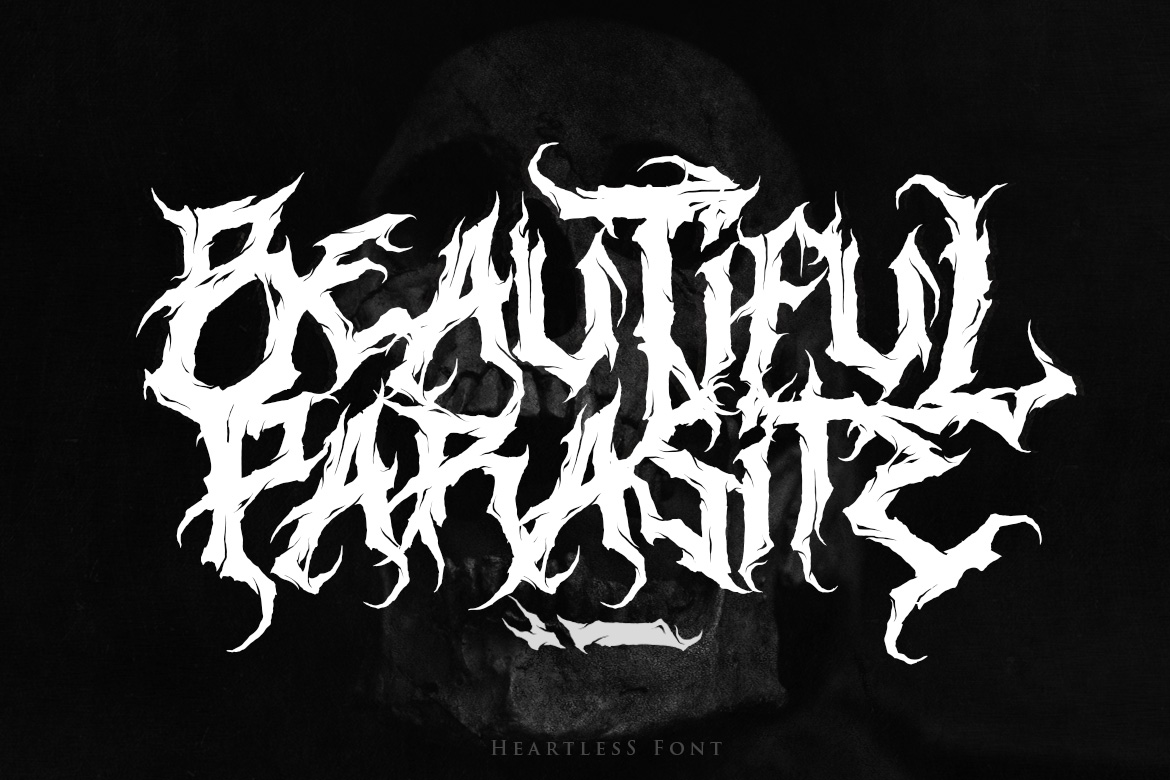 Heartless - Most Wanted Deathmetal Font example image 3