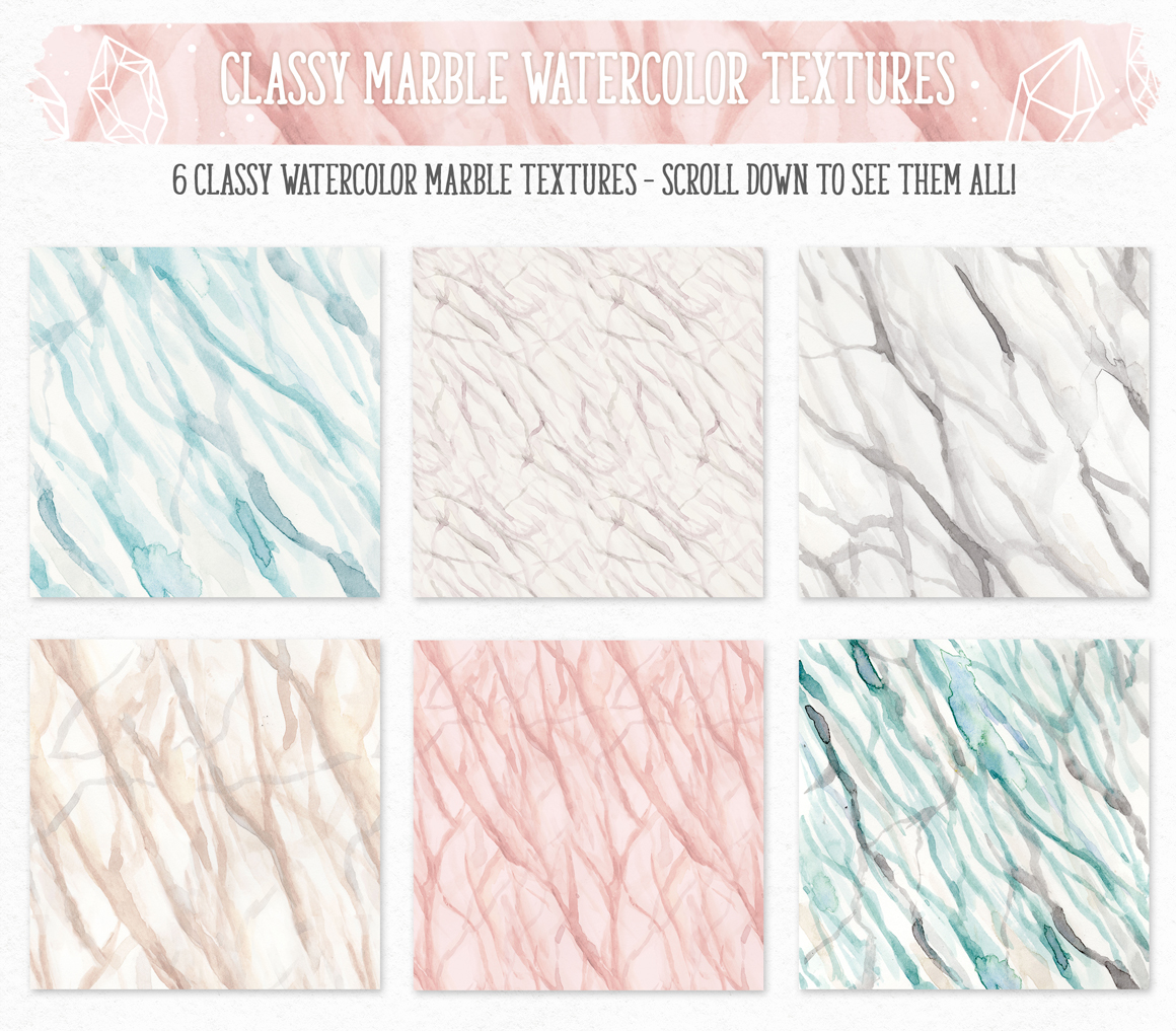 New Watercolor Textures and Graphics Bundle example image 9