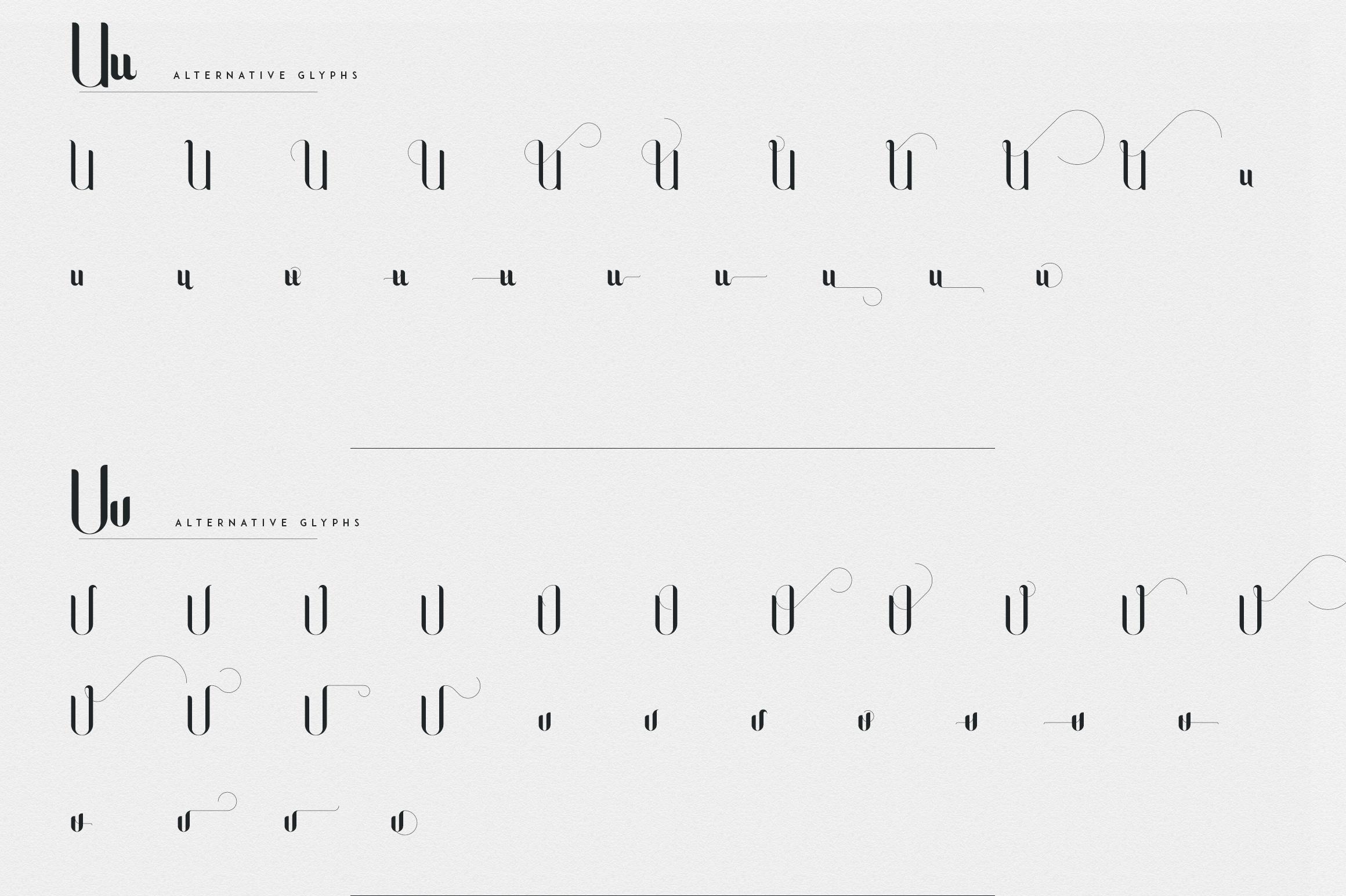 Fonatik Display font Extras example image 21