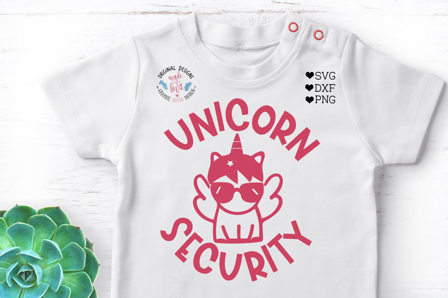 Unicorn Security Kids t-shirt Cut File - Kids svg example image 2