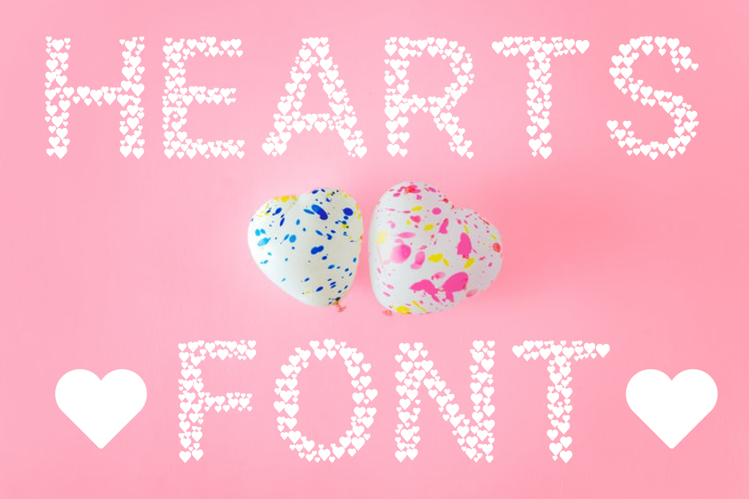 Hearts - A Font Love Story example image 3