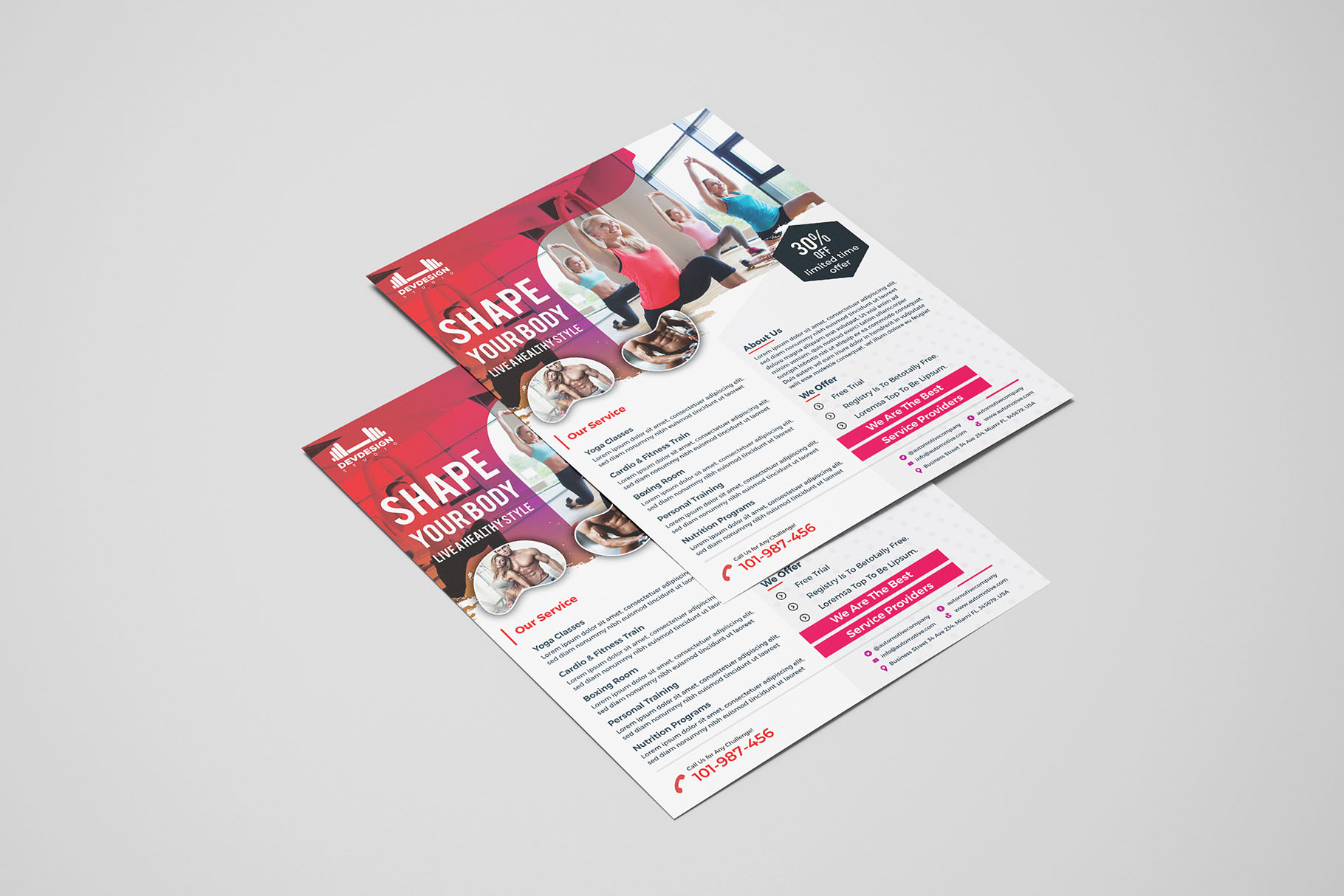 Modern GYM Flyer For GYM Business example image 1