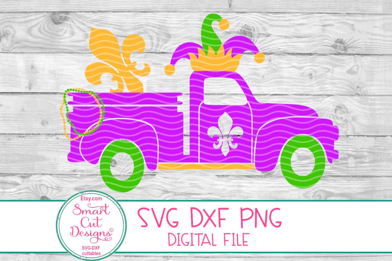 Mardi Gras Truck SVG, Jester Crown SVG, Mardi Gras SVG, DXF example image 2