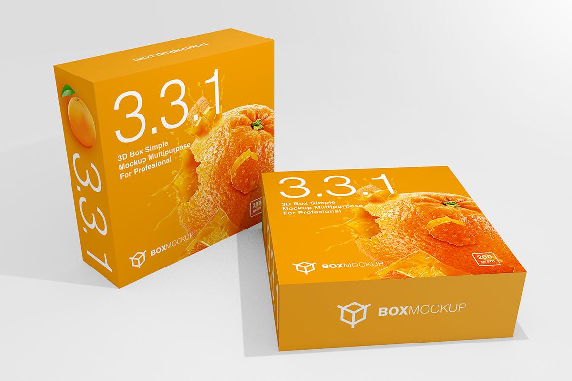 3.3.1 Simple 3D Box Mockup PSD example image 1
