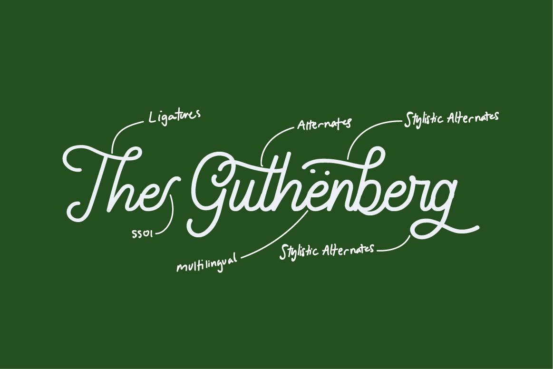 Gathenbury Font example image 2