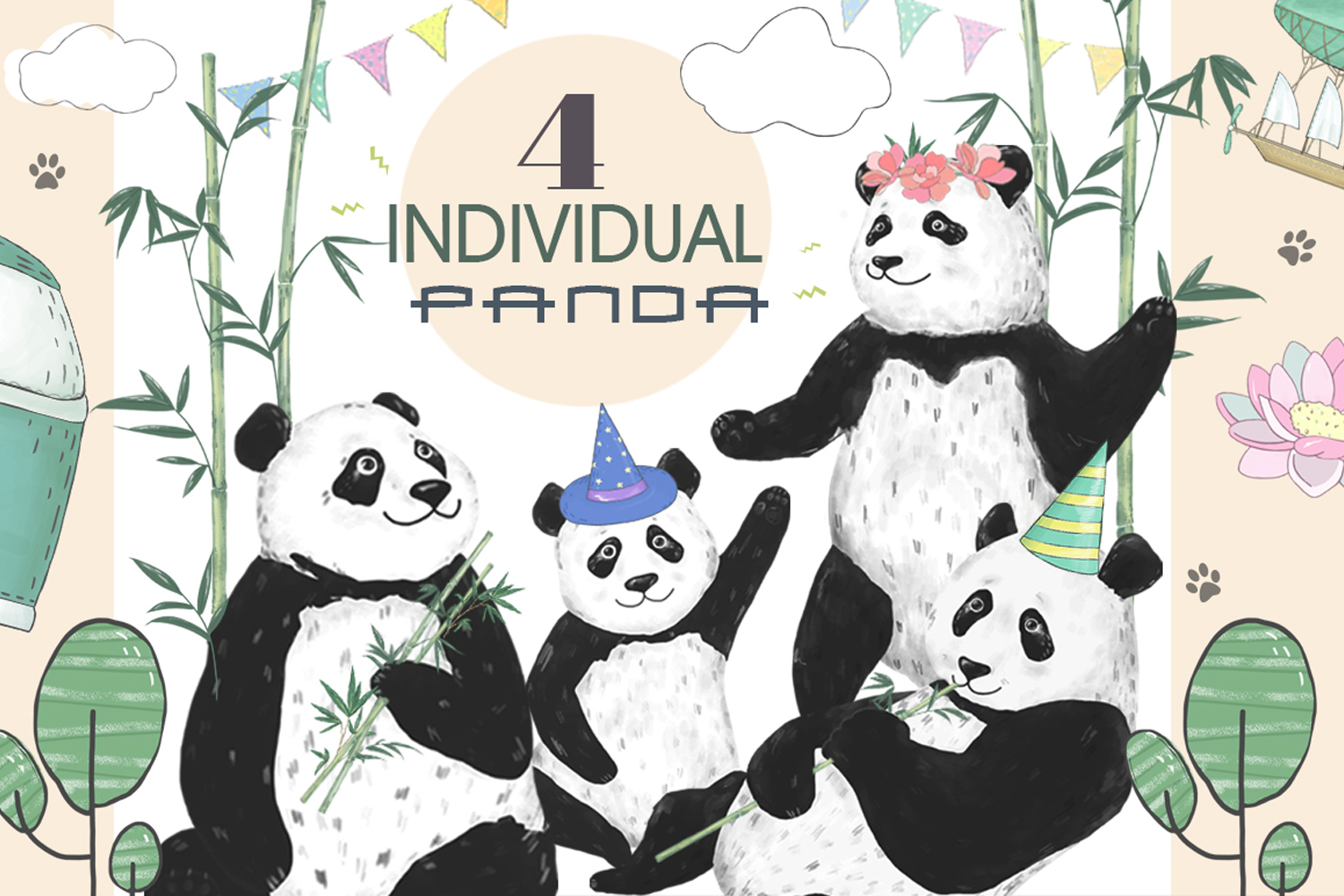 Pandas. Summer Adventure example image 2
