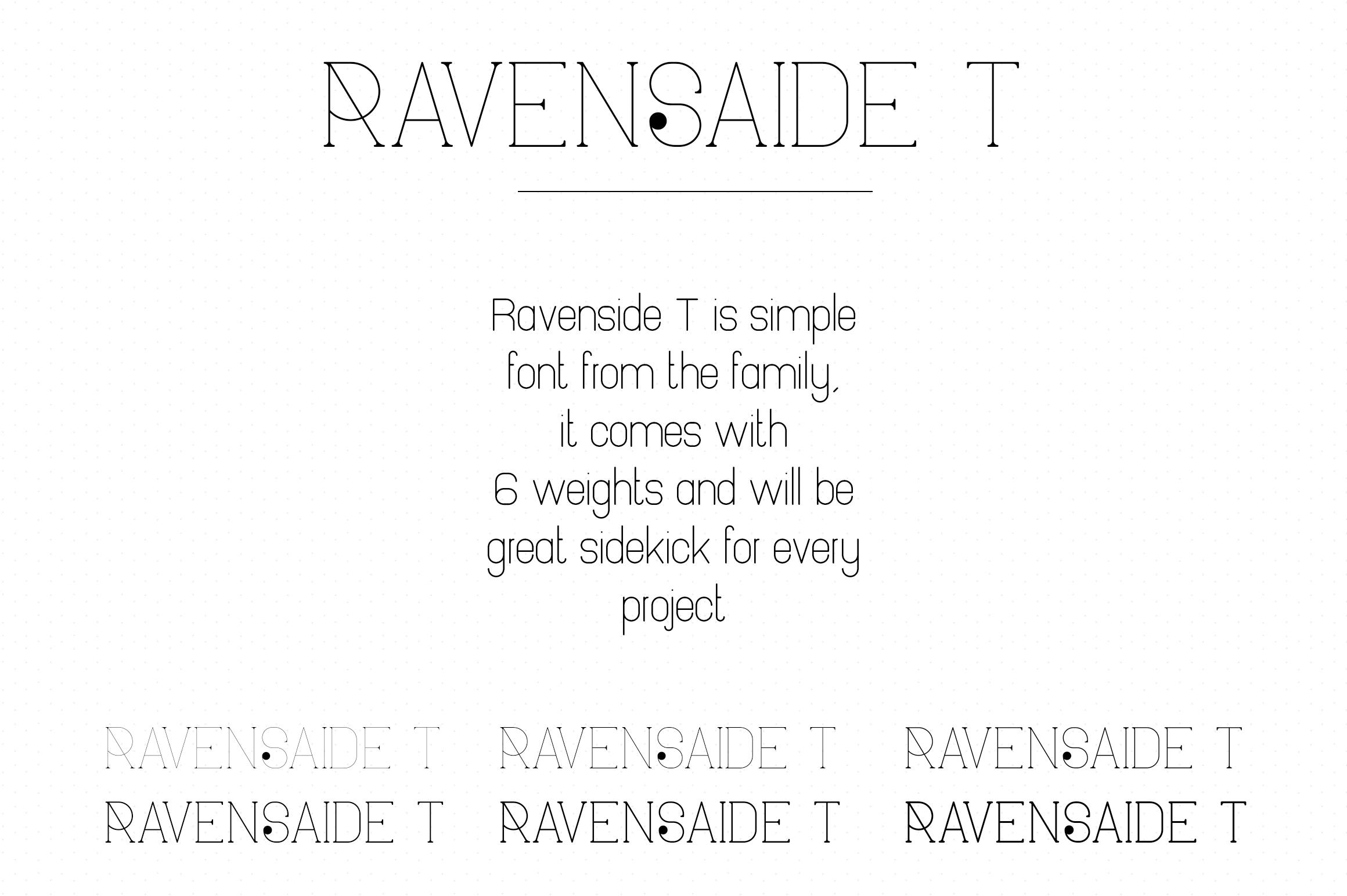 Ravenside-high end trio font example image 11