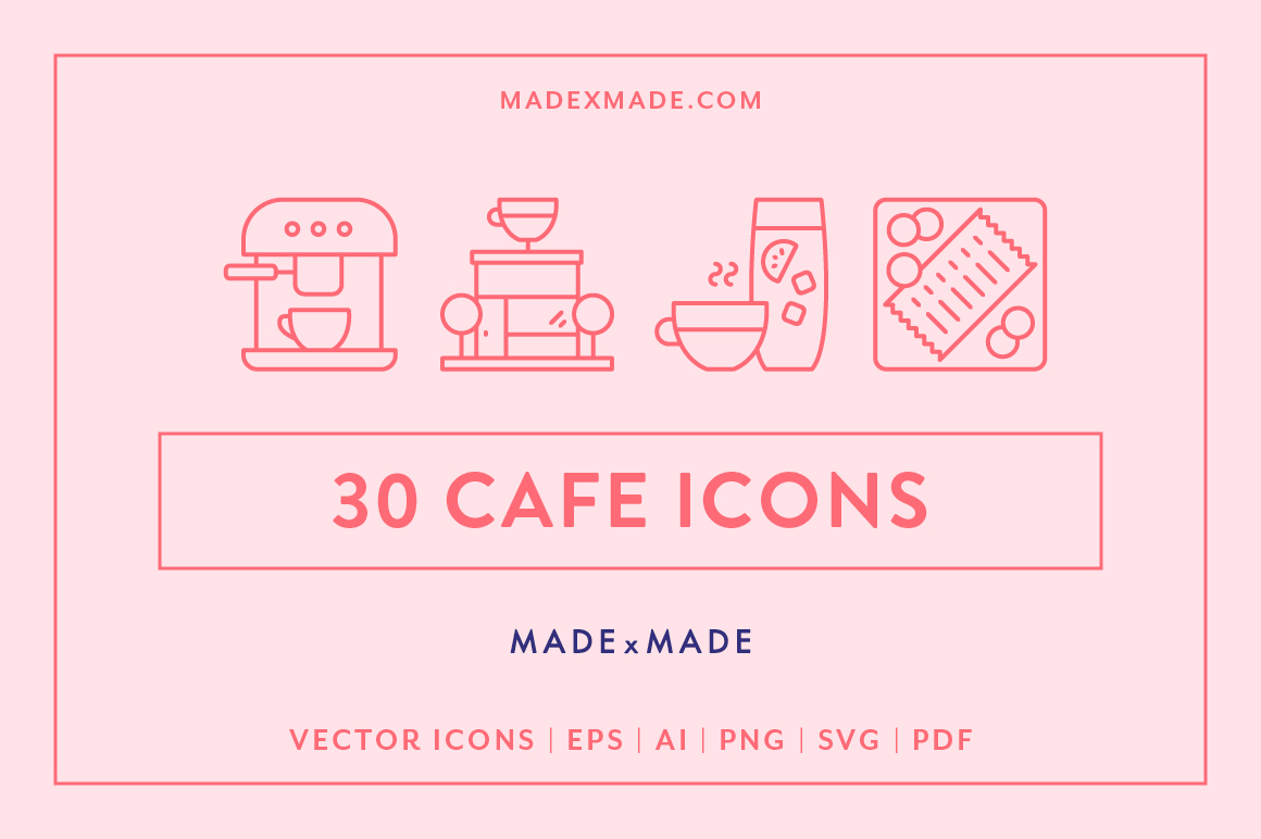 Line Icons  Cafe example image 1