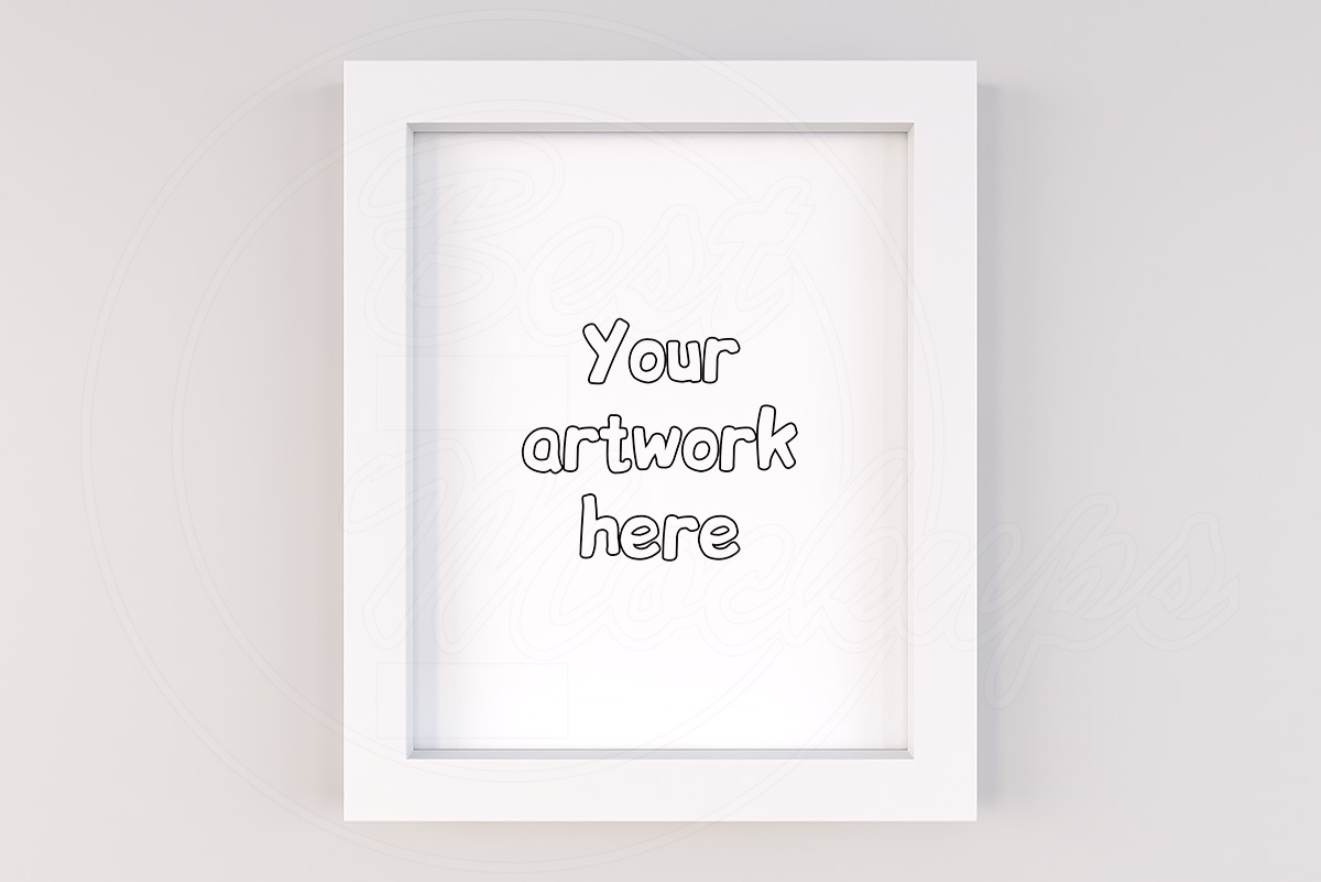 Minimal white mockup frame instant download example image 1