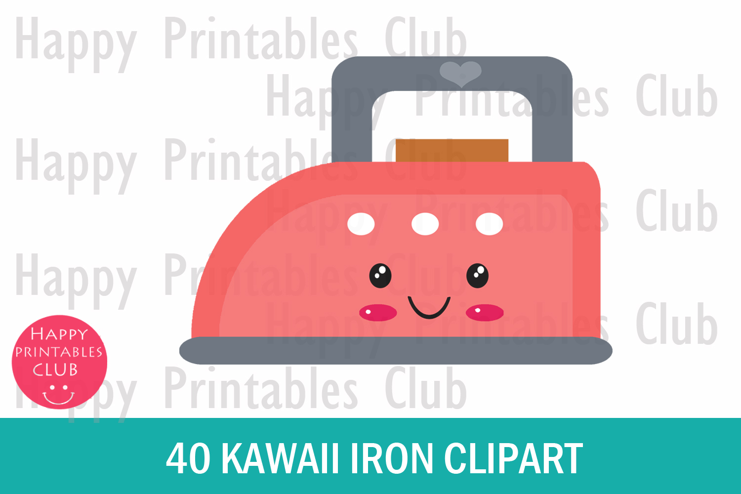40 Kawaii Iron Clipart- Colorful Iron Clipart PNG Images example image 2
