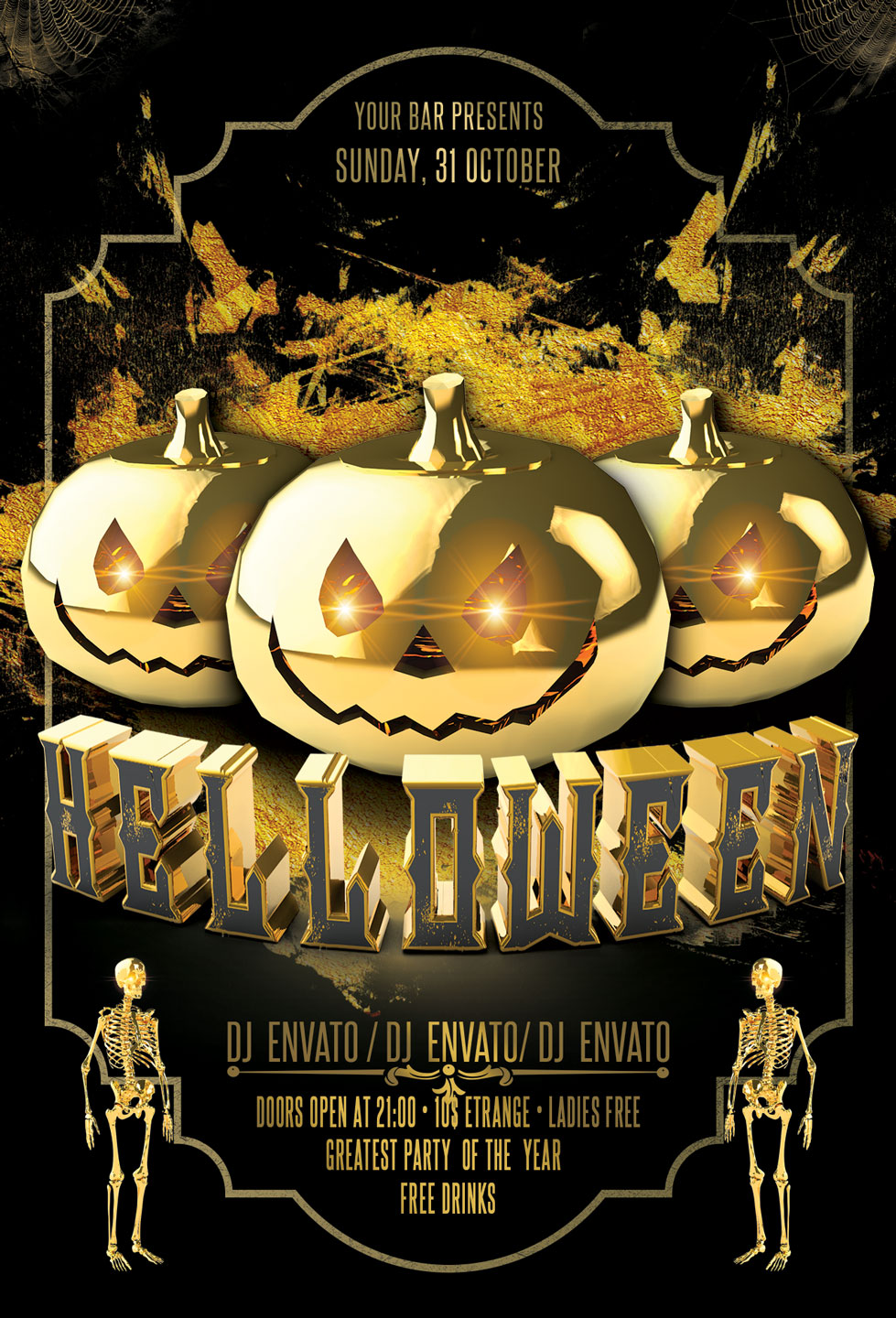Halloween Party Flyer example image 2