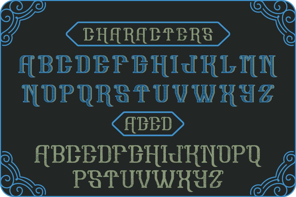 Hoodlum label font example image 2