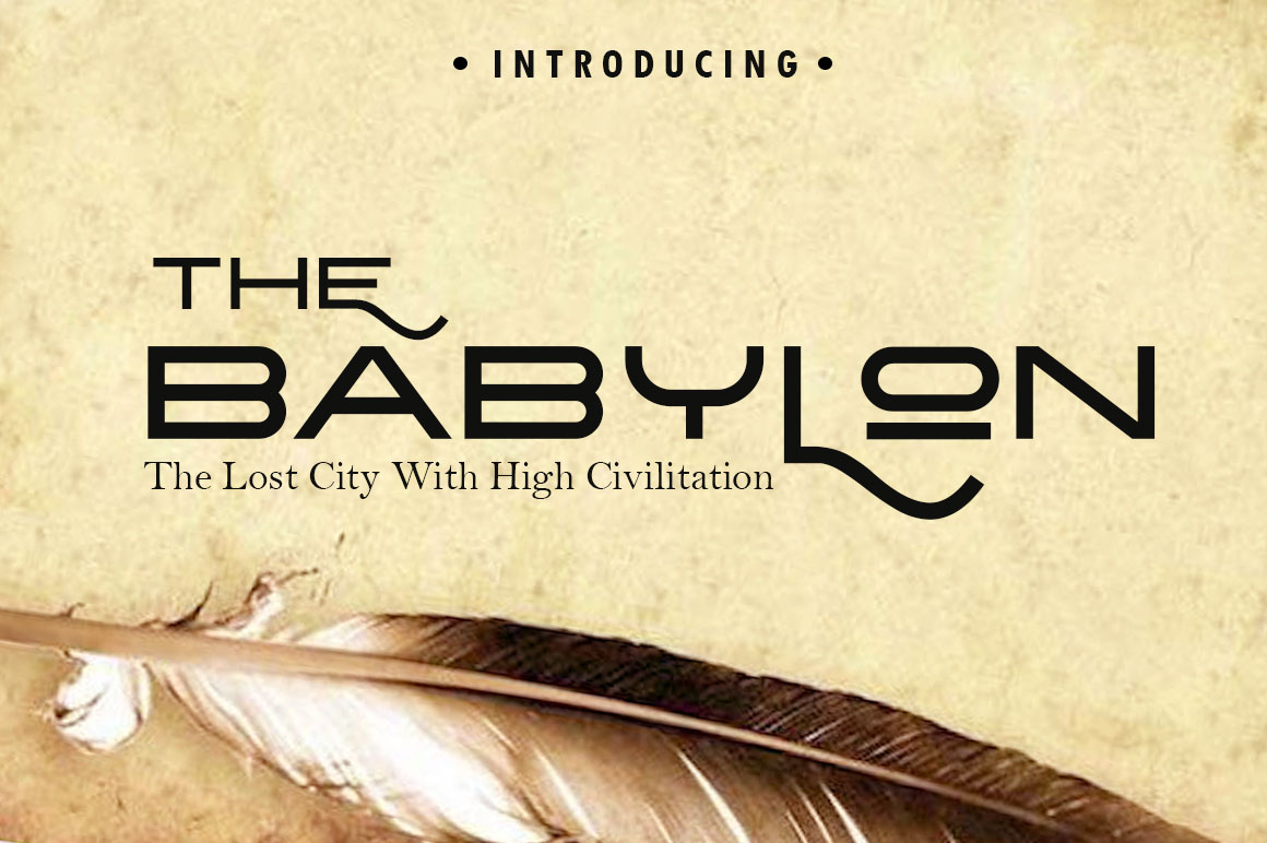 The Babylon Strong Typeface example image 1