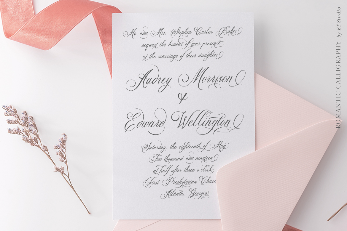 Glaston Romantic Calligraphy example image 9