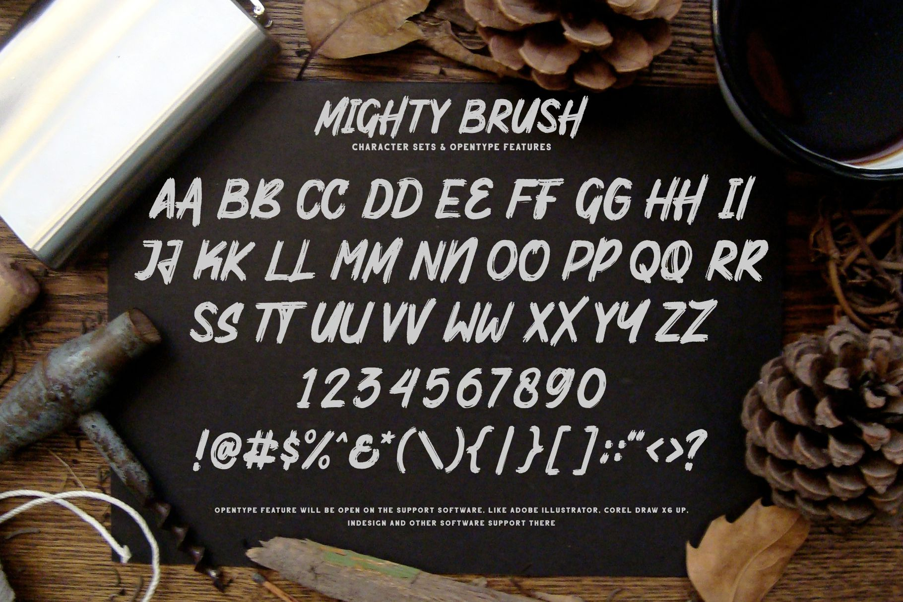 Mighty Brush Font example image 8