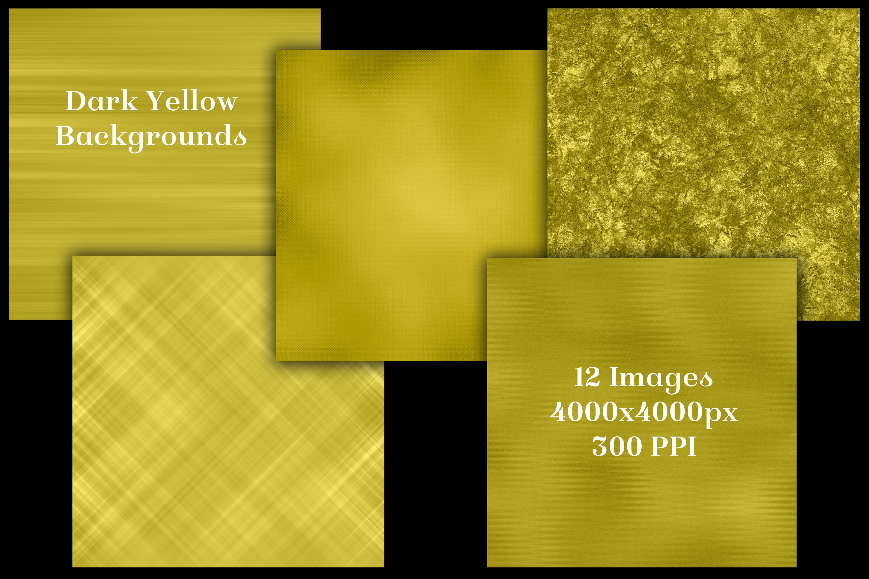 Dark Yellow Backgrounds - 12 Image Textures Set example image 2