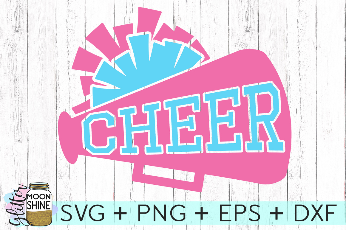 Cheer Megaphone SVG DXF PNG EPS Cutting Files example image 2