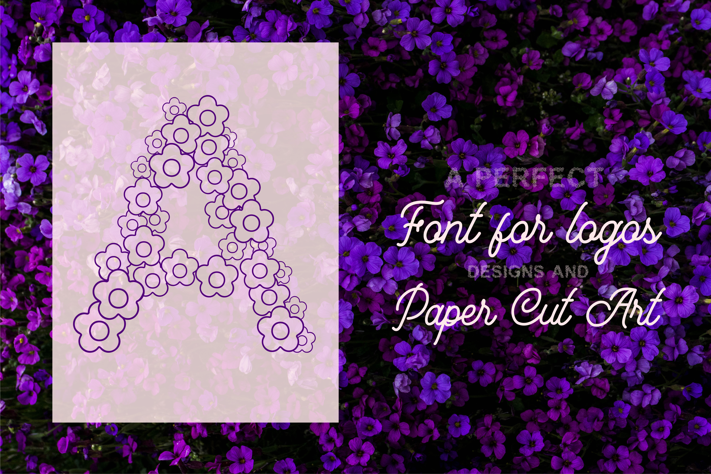 Flower Craft - Alphabets Flower Font For Crafters example image 2