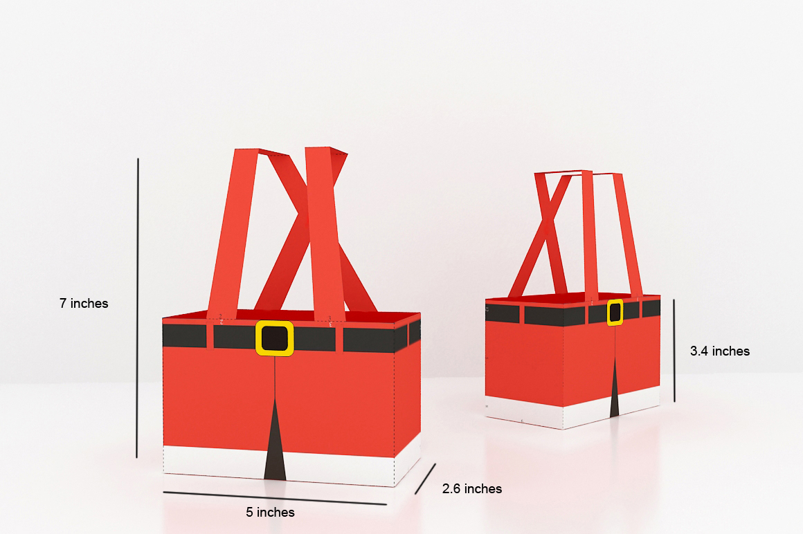 DIY Santa Pants Favor - 3d papercraft example image 2