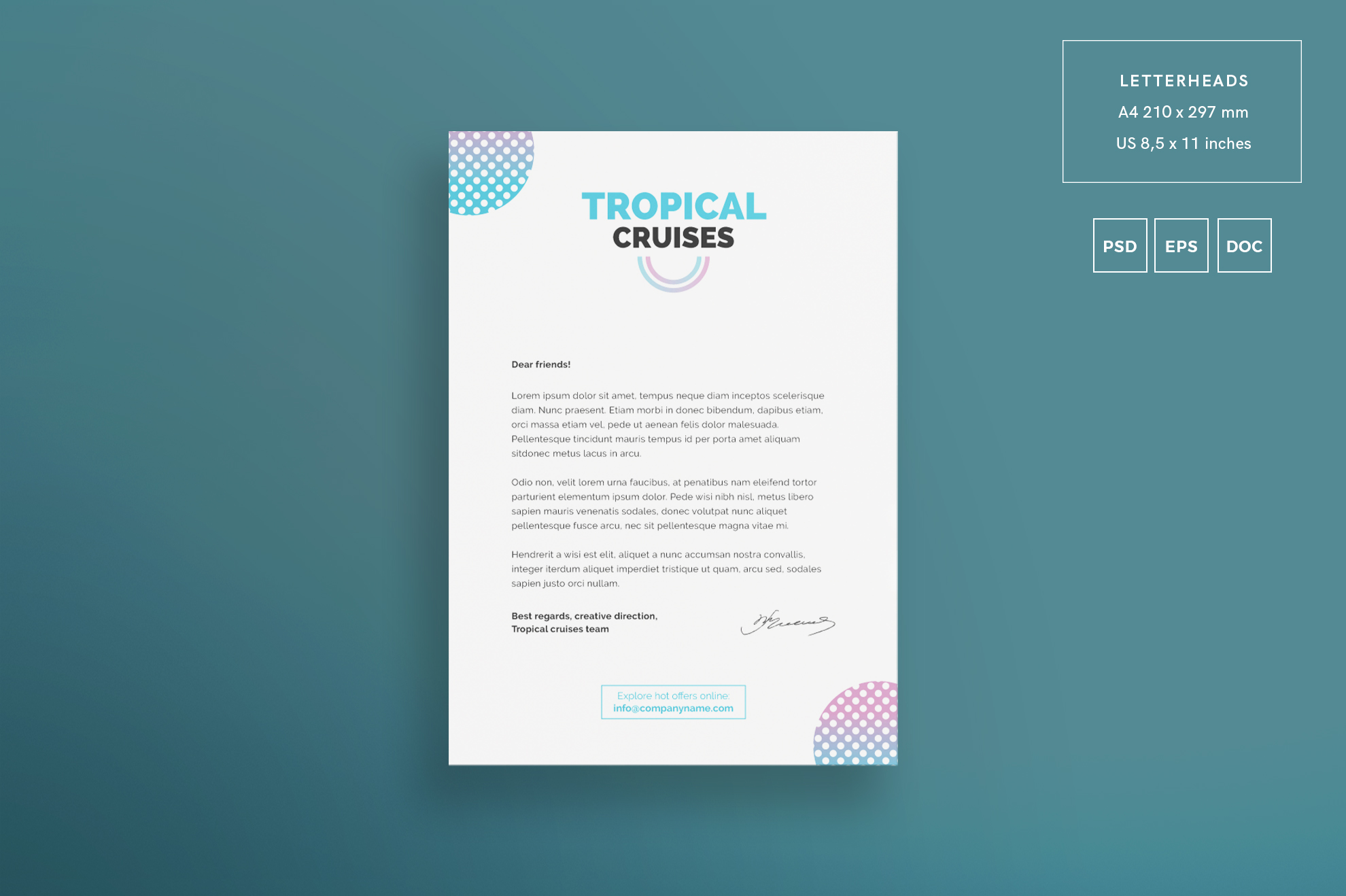 Tropical Cruises Design Templates Bundl | Design Bundles