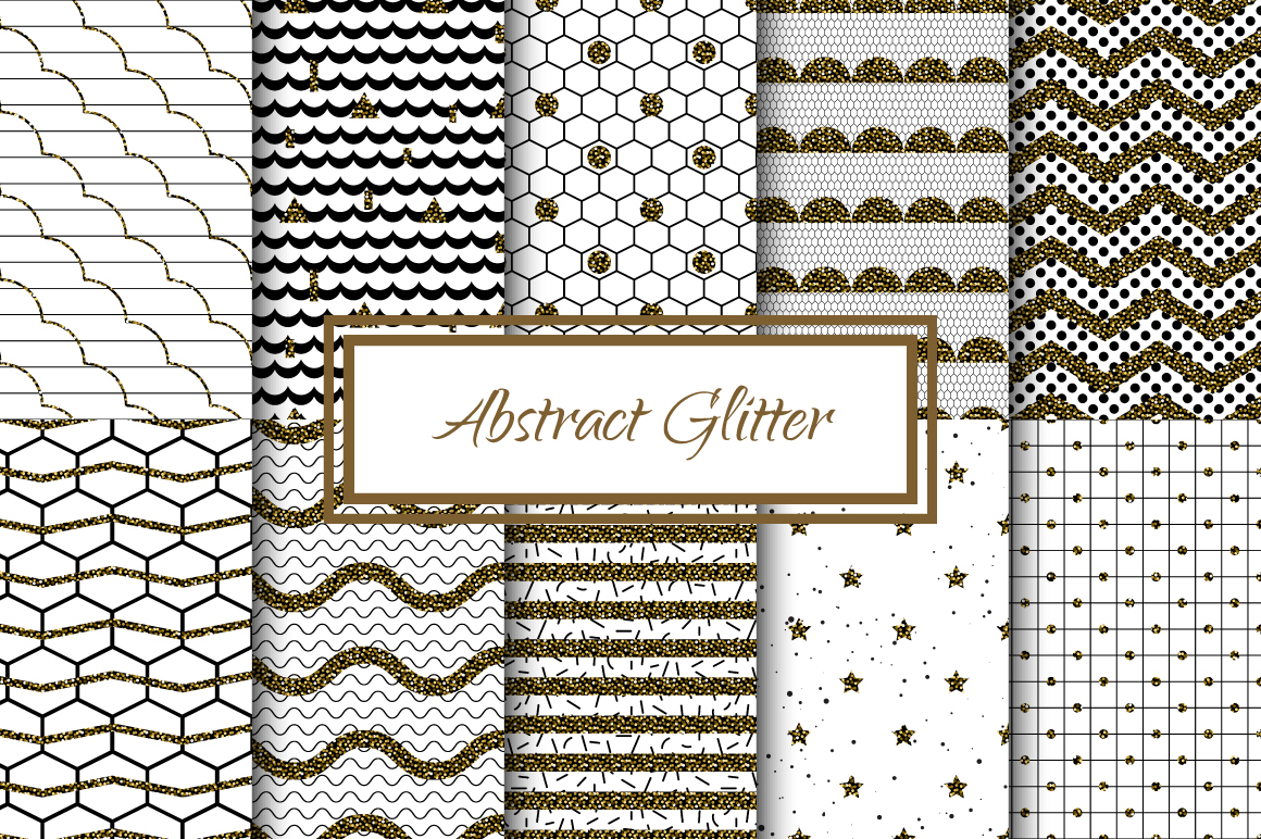 Abstract Glitter Seamless Patterns example image 1