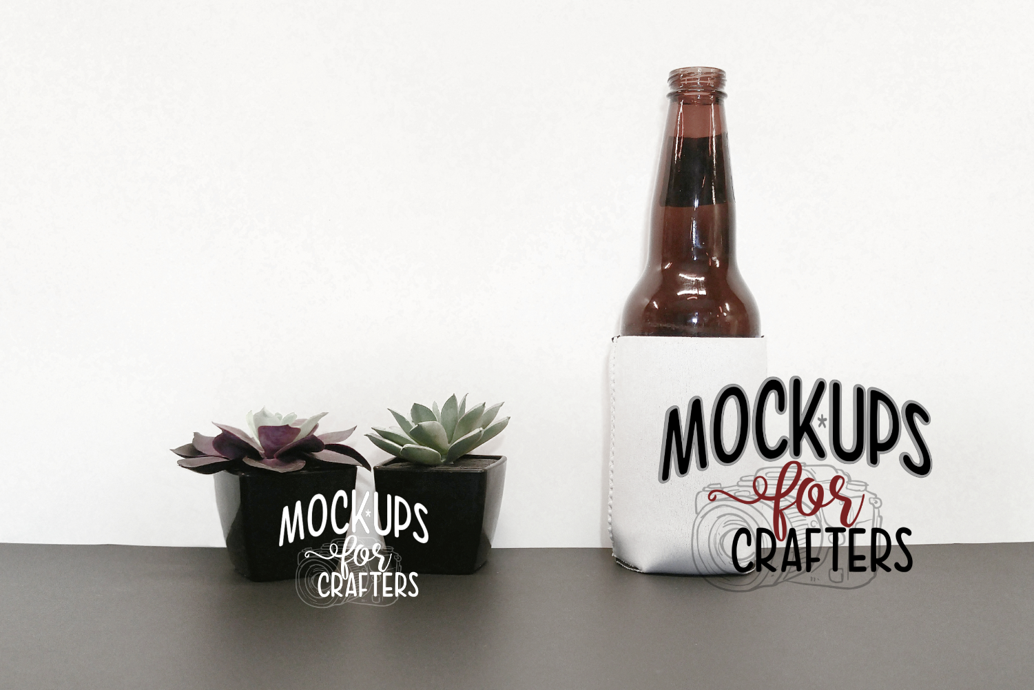 bottle/can cover- white MOCK-UP example image 1