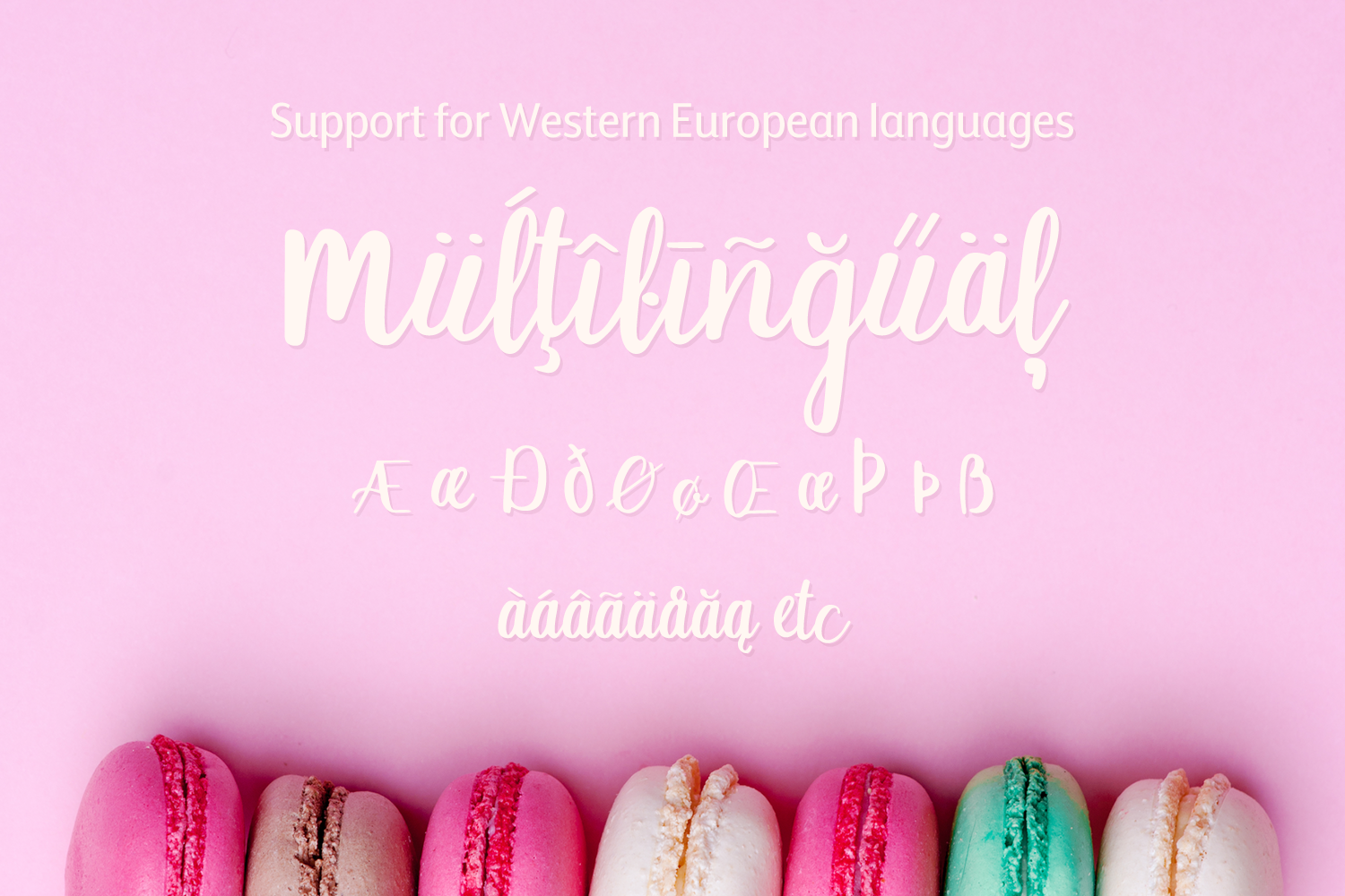 Macaron Moment - a sweet hand drawn script font example image 9