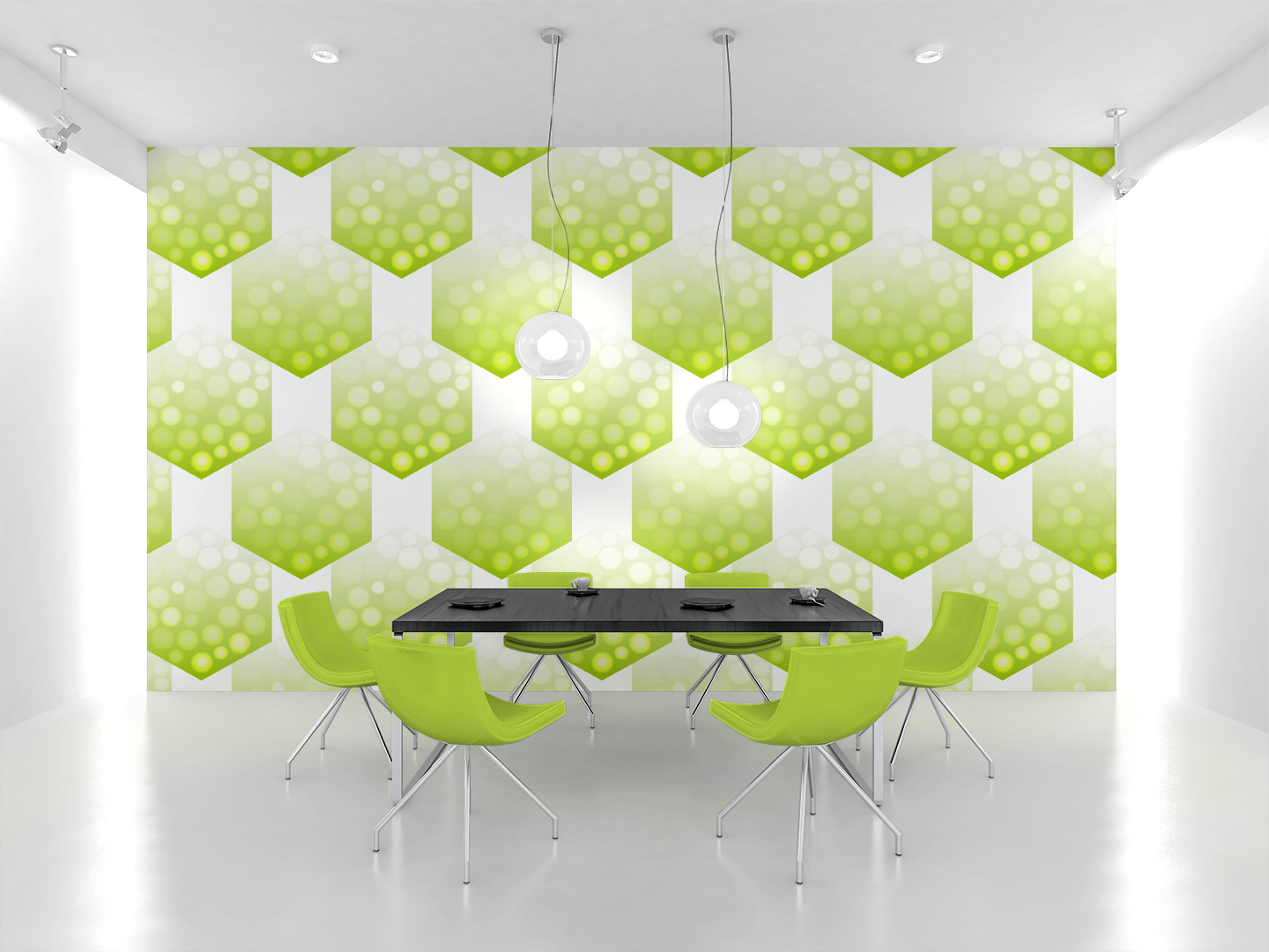24 bright hexagons seamless patterns example image 2