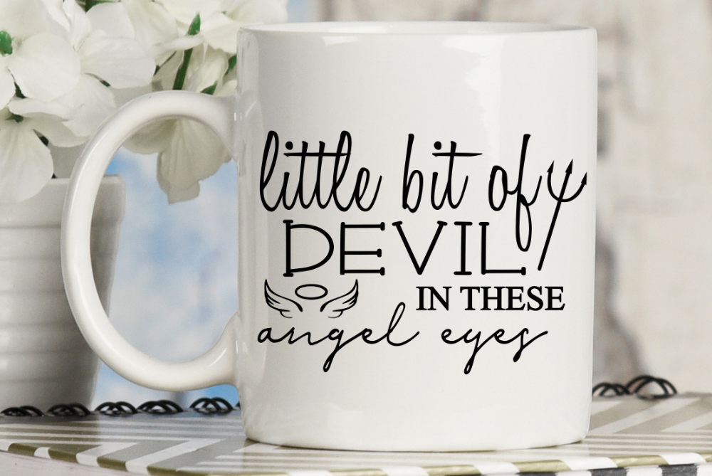 Little bit of devil in these angel eyes, country music svg example image 2