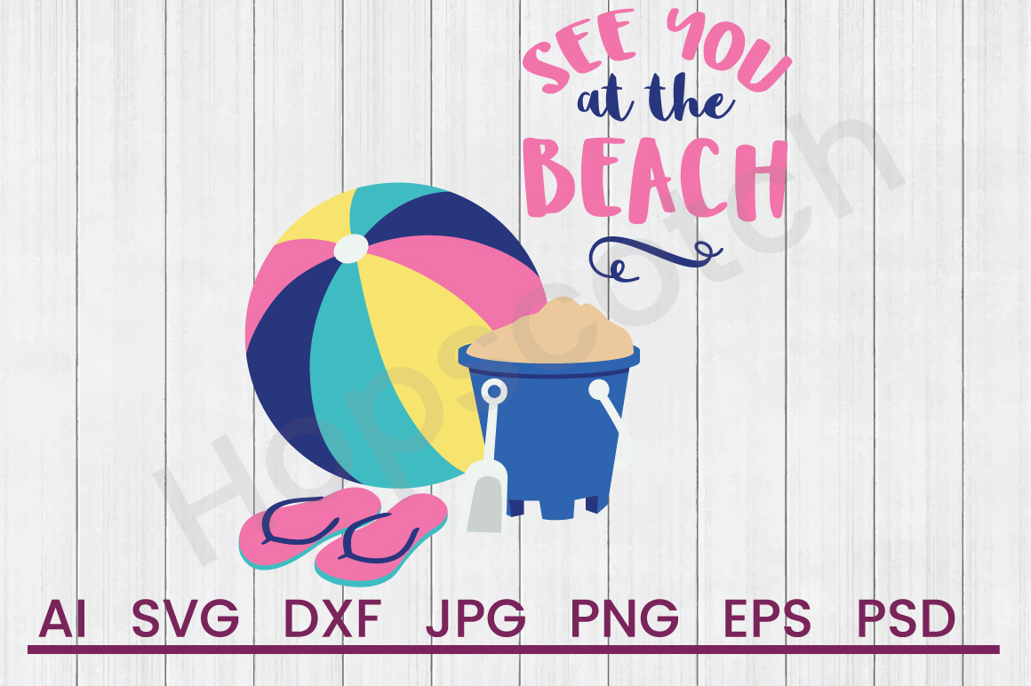 Beach Items SVG, See You Soon SVG, DXF File, Cuttatable File example image 1