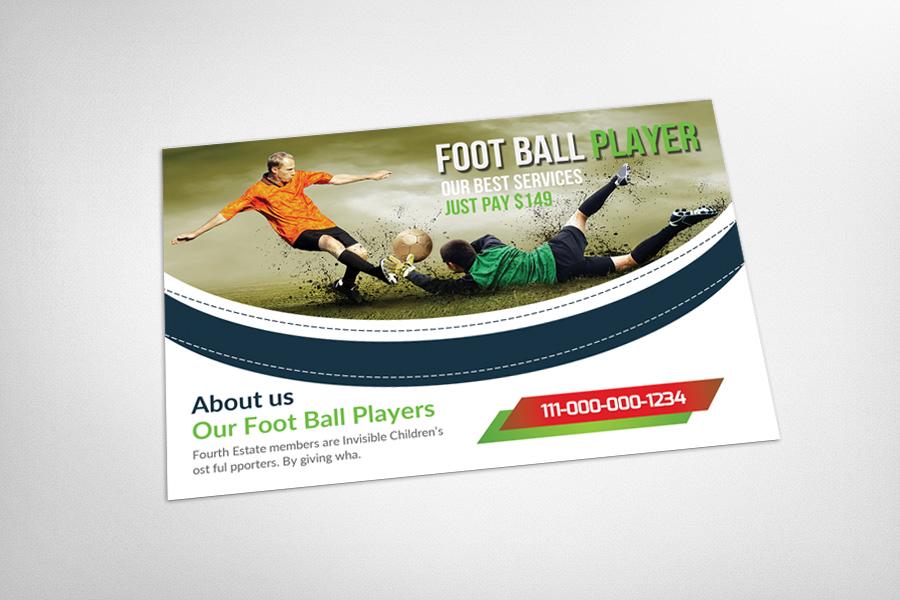 Football Player Postcard Template example image 3