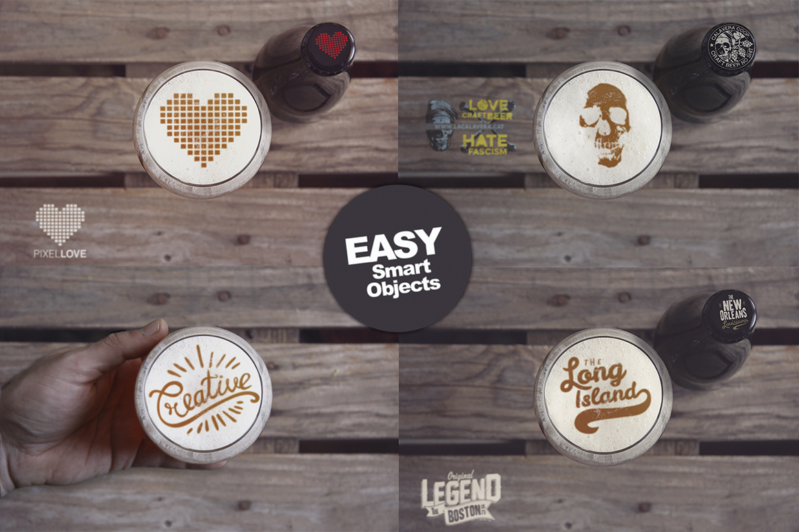 Beer Cup & Bottle Mockup -30 Intro example image 2