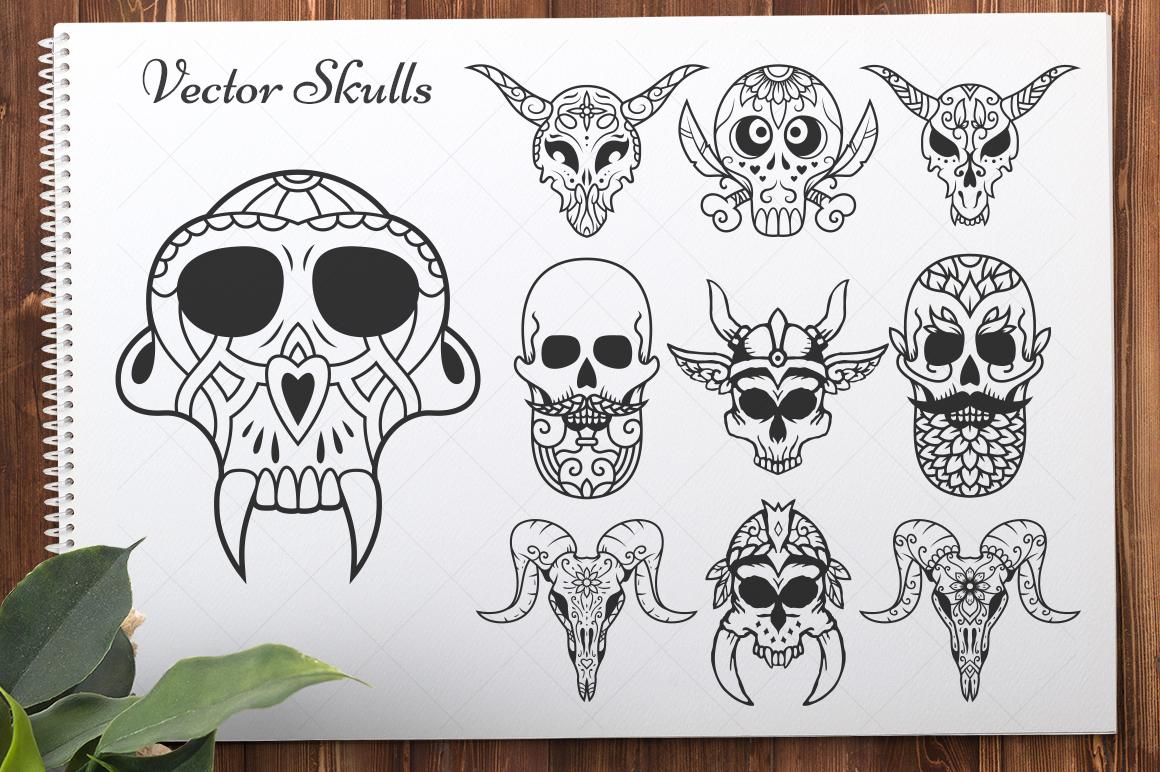 50 Vector Sugar Skulls example image 5