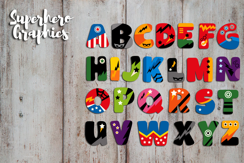 Superhero Alphabet and Punctuation - Graphics Bundle example image 4