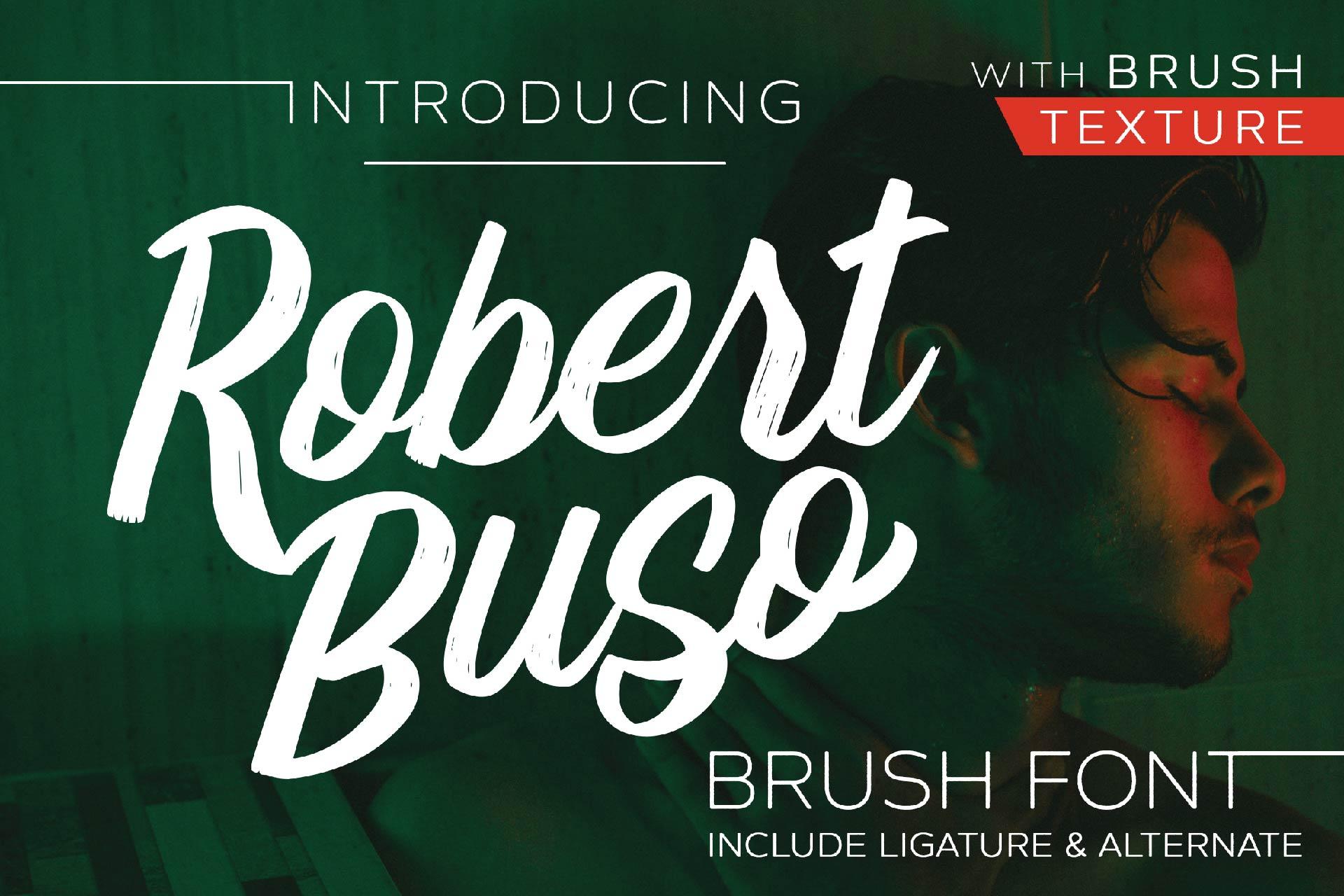 Robert Buso - Brush Font example image 1