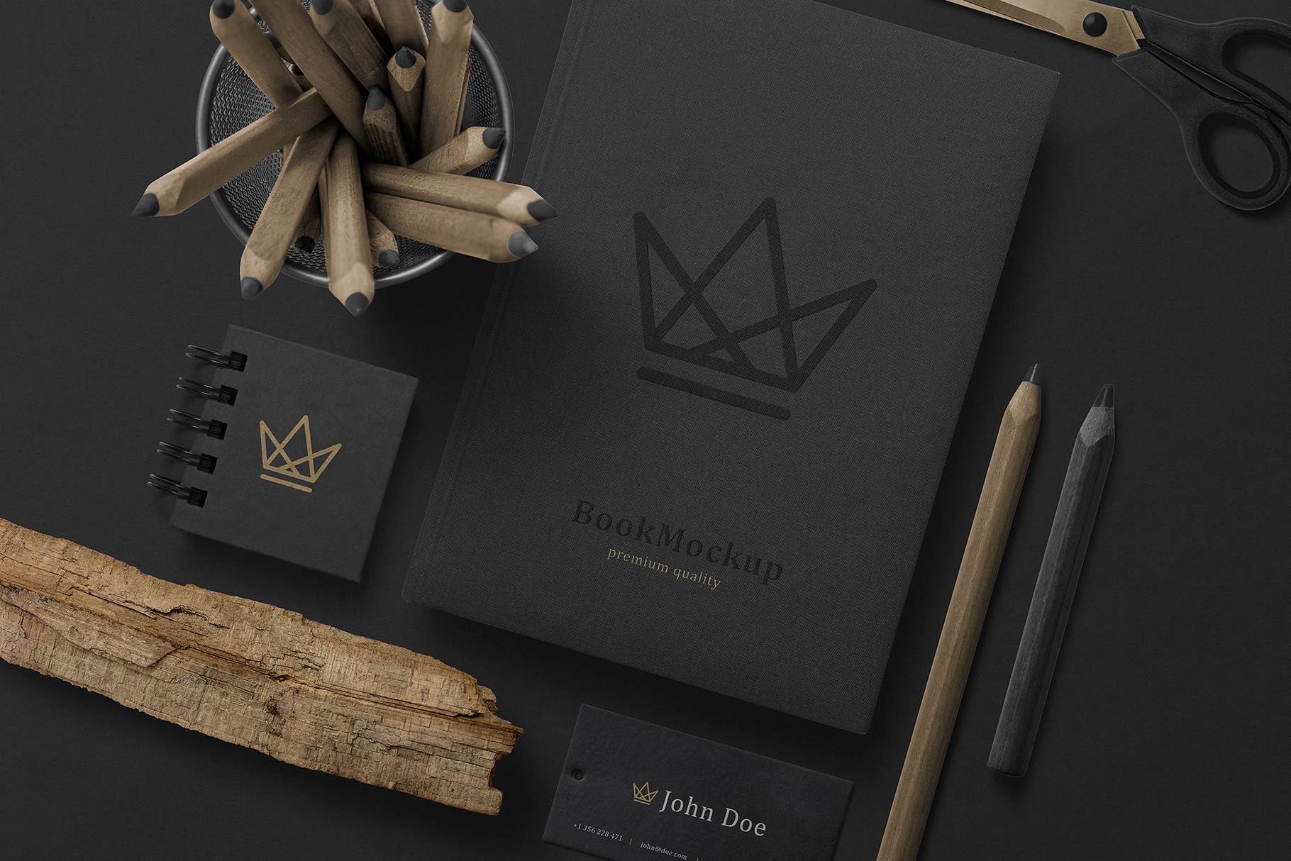 Black Branding Mockups Vol.2 example image 6