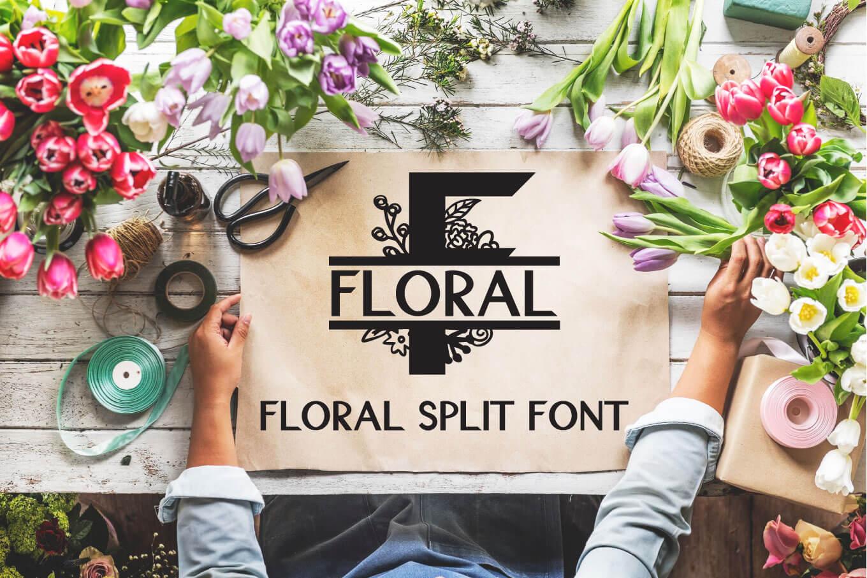 Floral Split Font - A Monogram Font example image 1