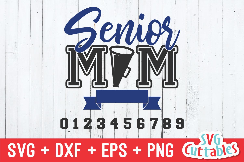 Cheer Senior Mom | Cheer SVG Cut File example image 2