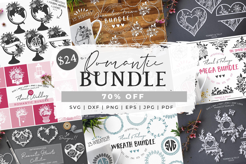 MEGA BUNDLE! Romantic Cut Files - SVG | Papercut example image 1