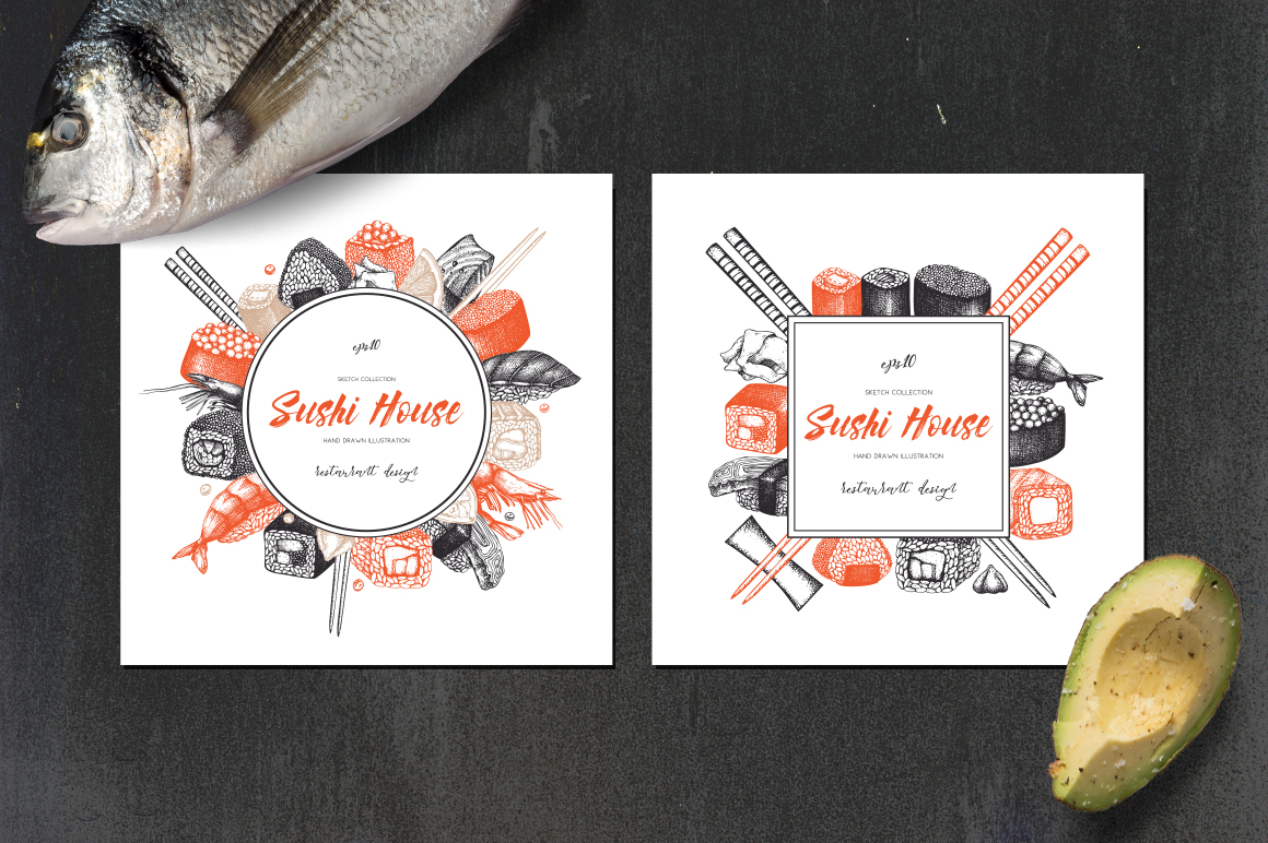 Vector Sushi Collection example image 3