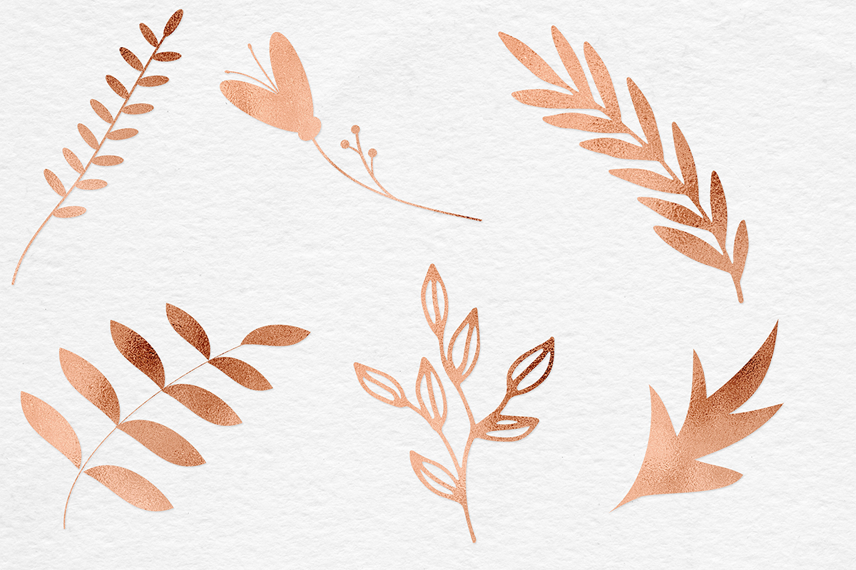 Hand Painted Copper Plants example image 3
