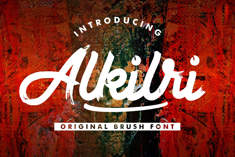 Alkilri | Brush Script Font example image 1