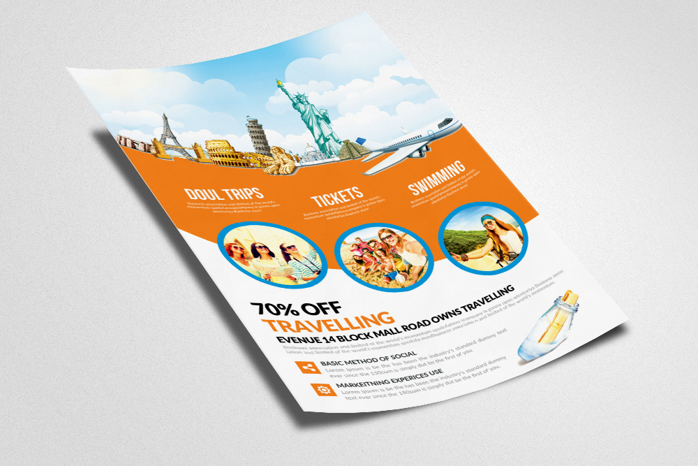 Tour & Travel Flyer example image 2