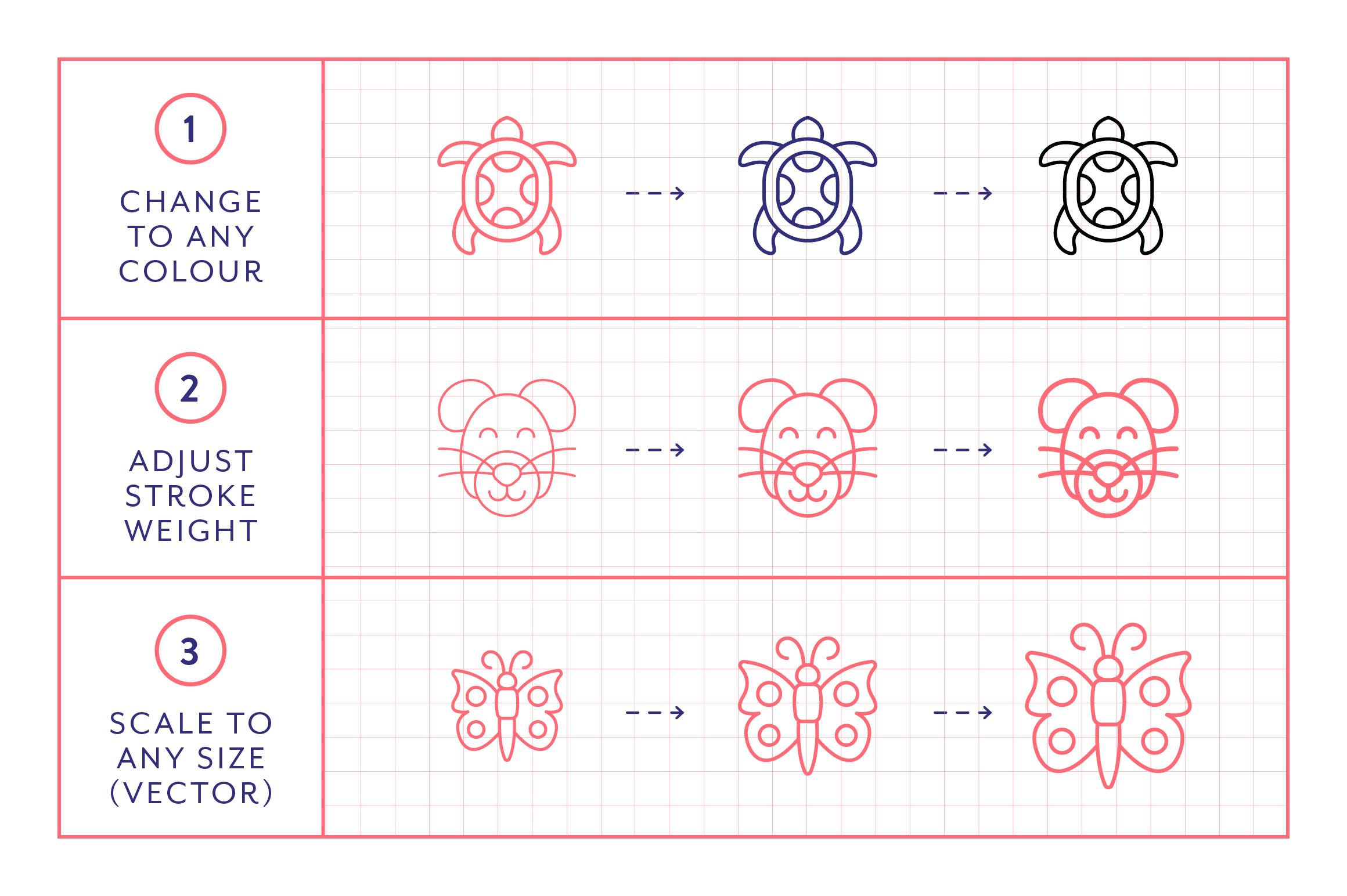 Line Icons - Animals example image 4