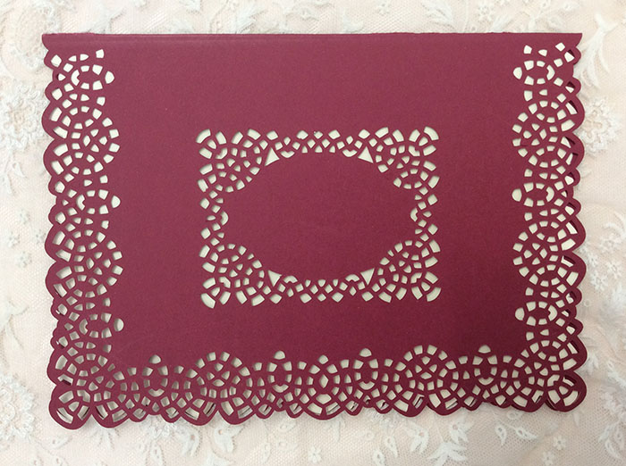 """Lacey cutwork edge 5x7"""" card example image 2"""