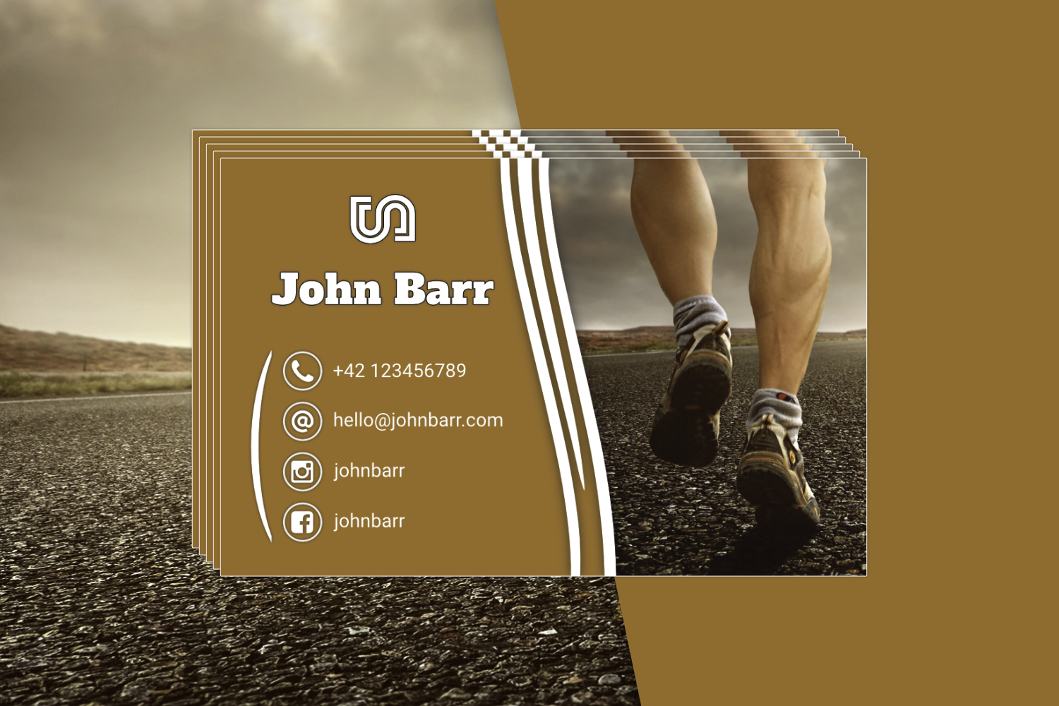 12 Sport Business Card Templates example image 13