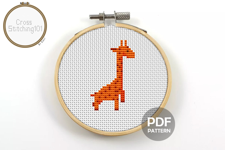 Giraffe Cross Stitch Pattern- Instant Download PDF example image 1