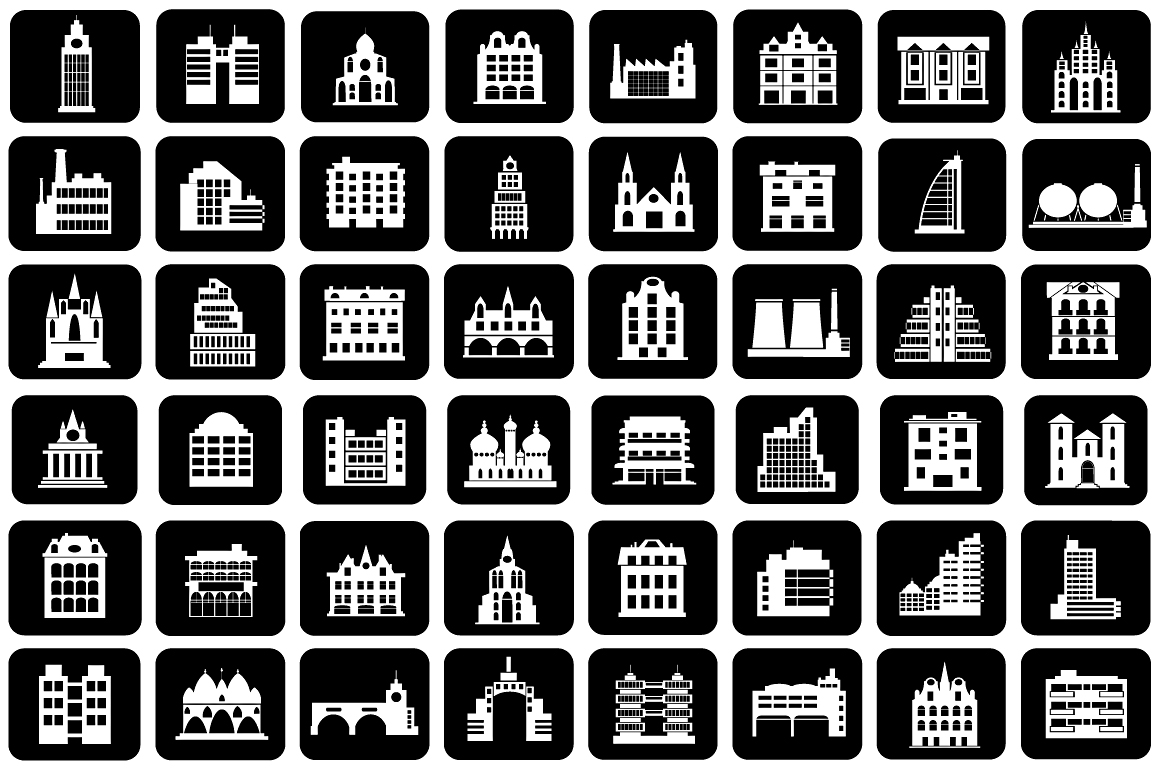 Set of vector buildings example image 5
