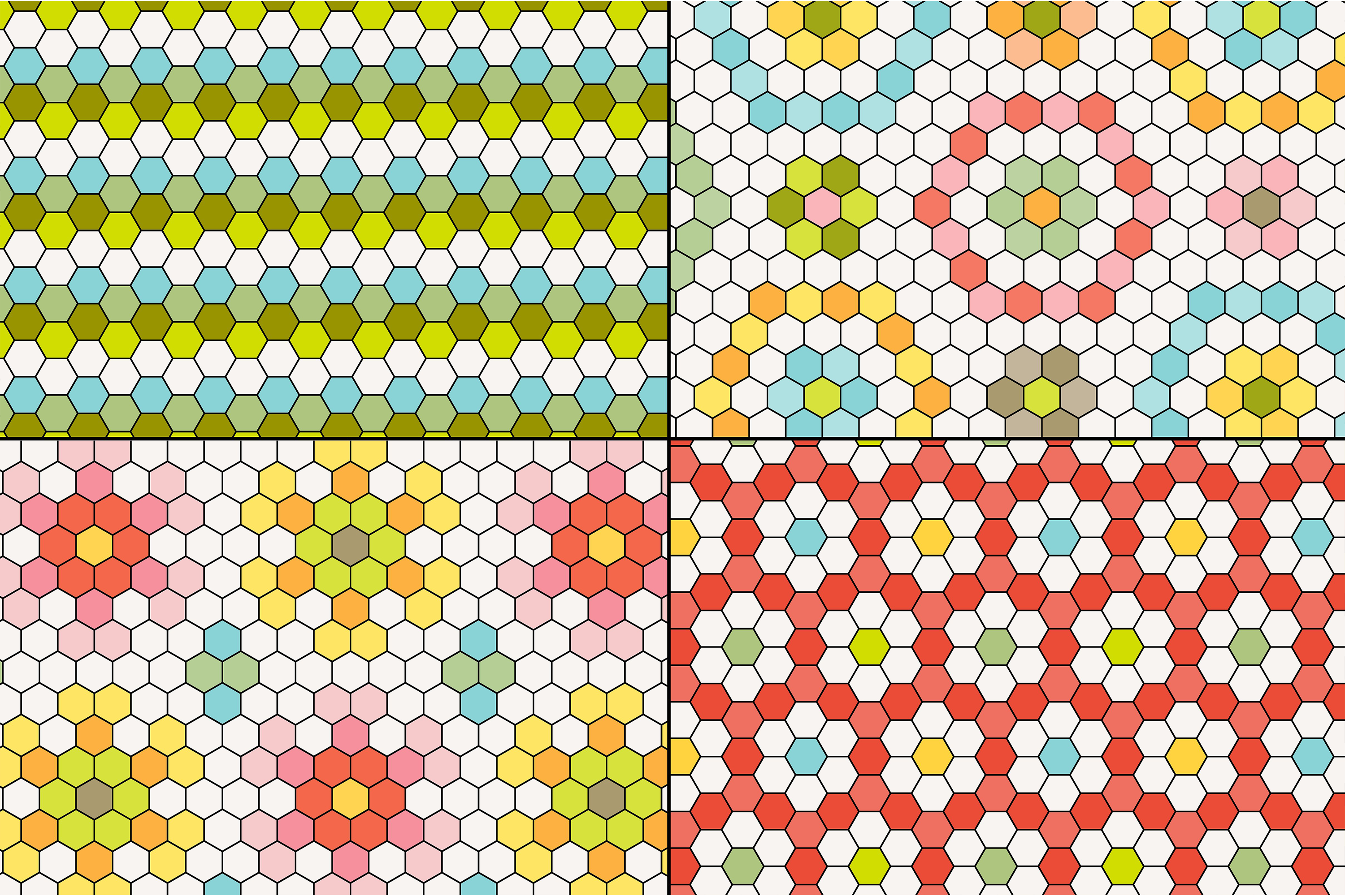 Hexagon Tile Patterns example image 3